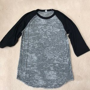 Men's Alternative Apparel burnout raglan tee